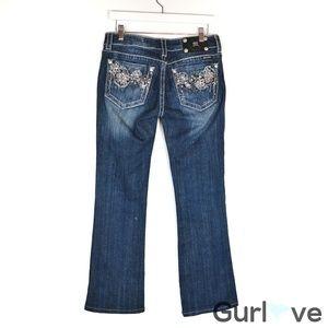 Miss Me Jeans Boot J05497B Embellish Distress 29